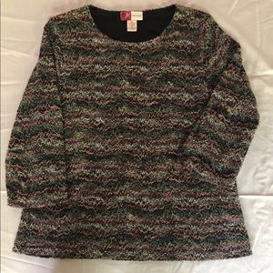 JM Collection Tops - Missonni Style Knit Top with Lining